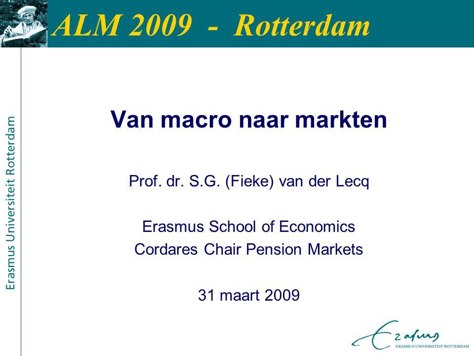 ALM 2009 - Rotterdam Van macro naar markten Prof. dr.