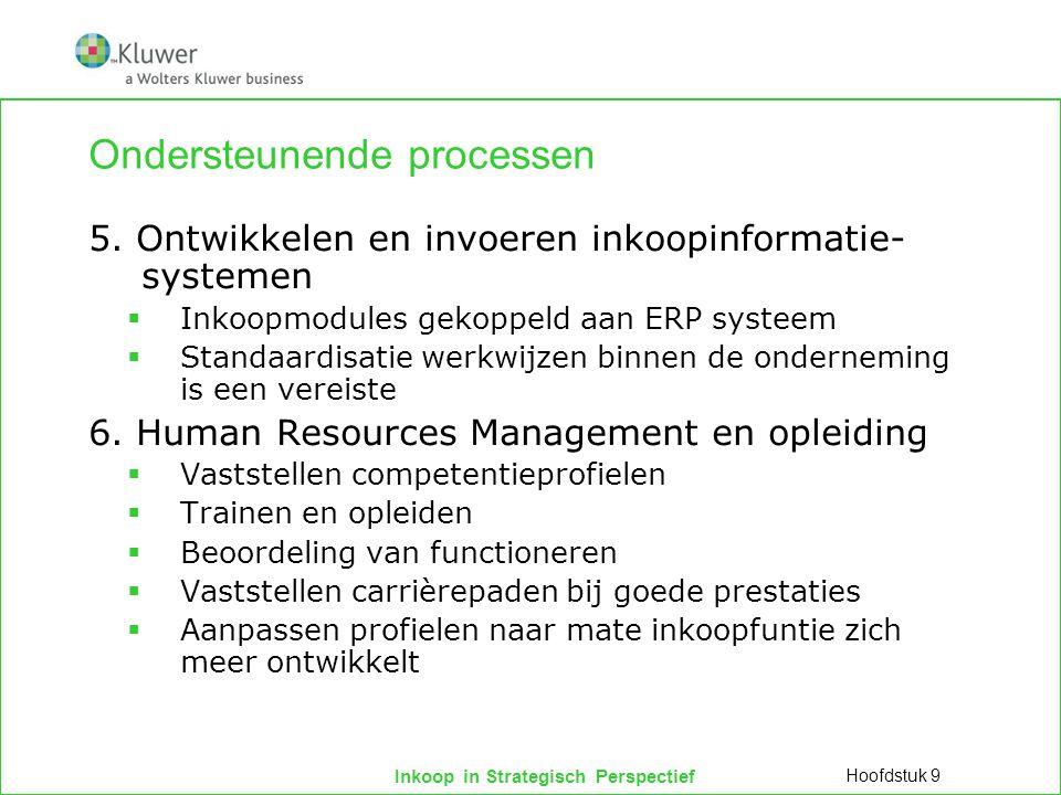 Inkoop in Strategisch Perspectief Ondersteunende processen 5.