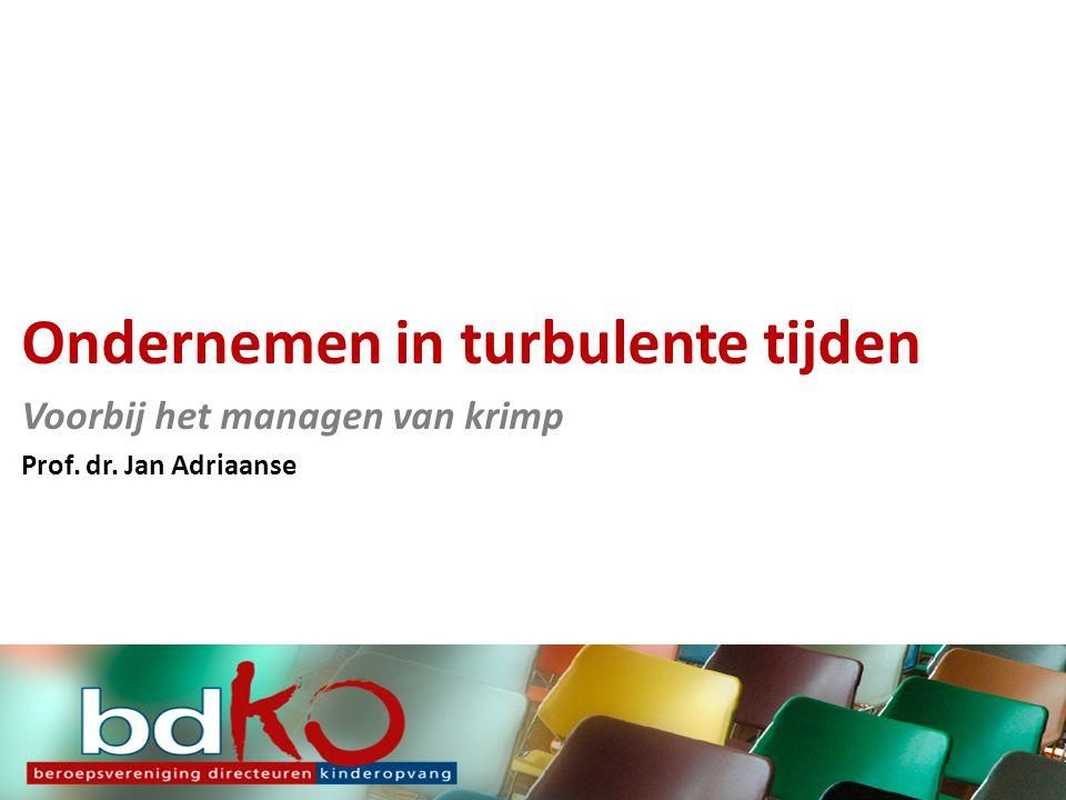 Ondernemen in turbulente tijden Voorbij het managen van krimp Prof. dr. Jan Adriaanse