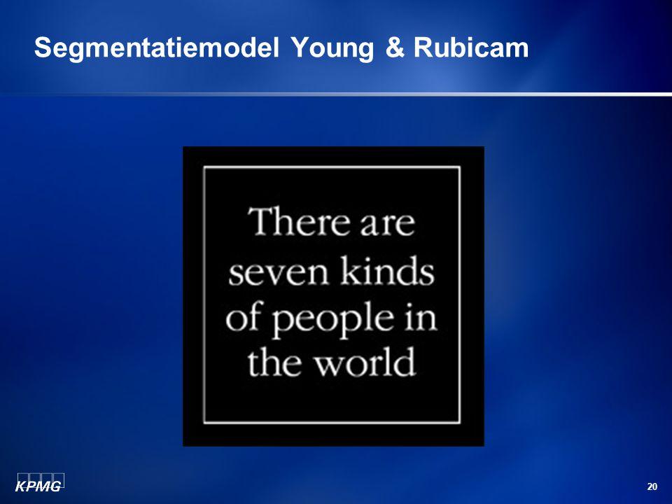 20 Segmentatiemodel Young & Rubicam