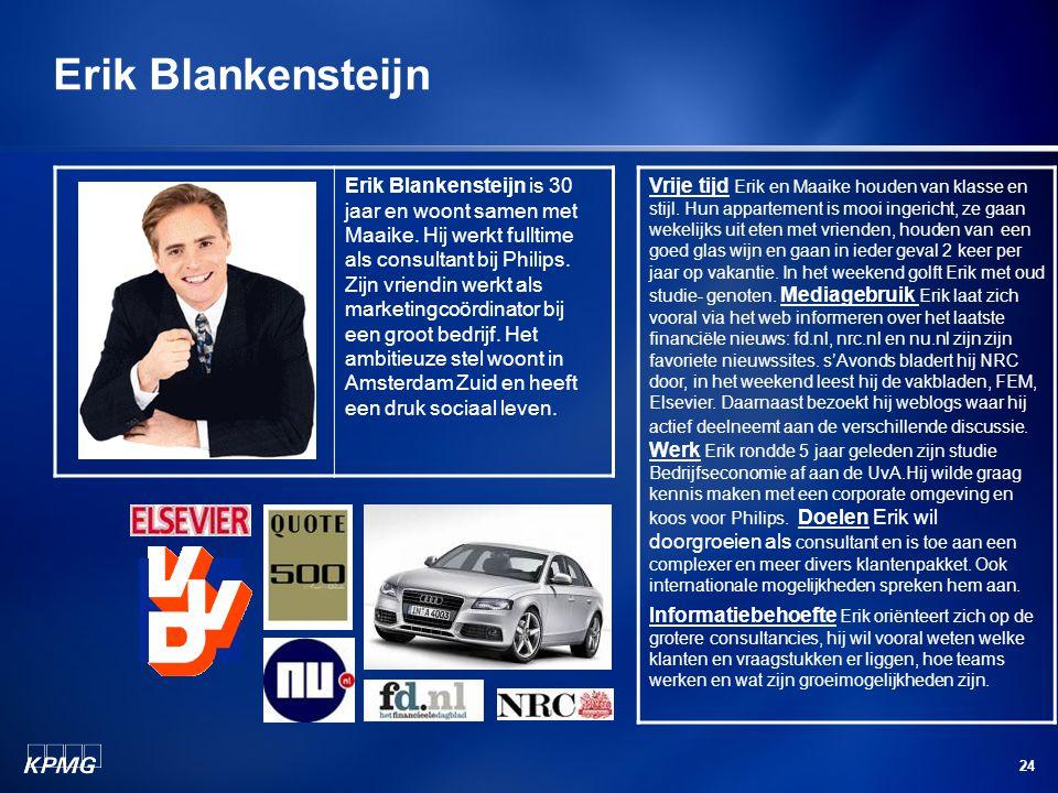 24 Erik Blankensteijn is 30 jaar en woont samen met Maaike.