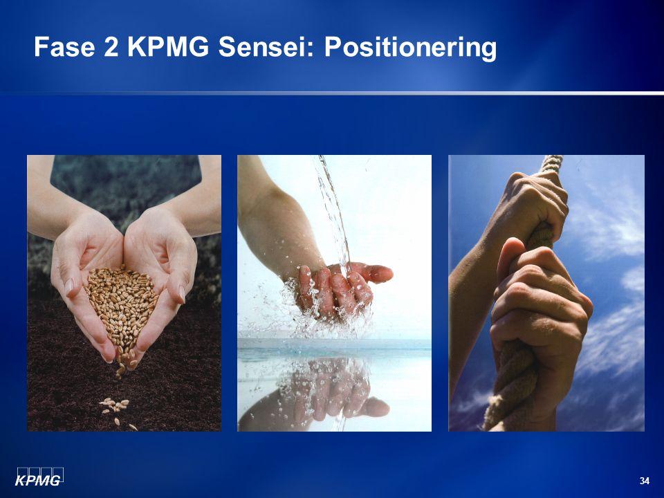 34 Fase 2 KPMG Sensei: Positionering