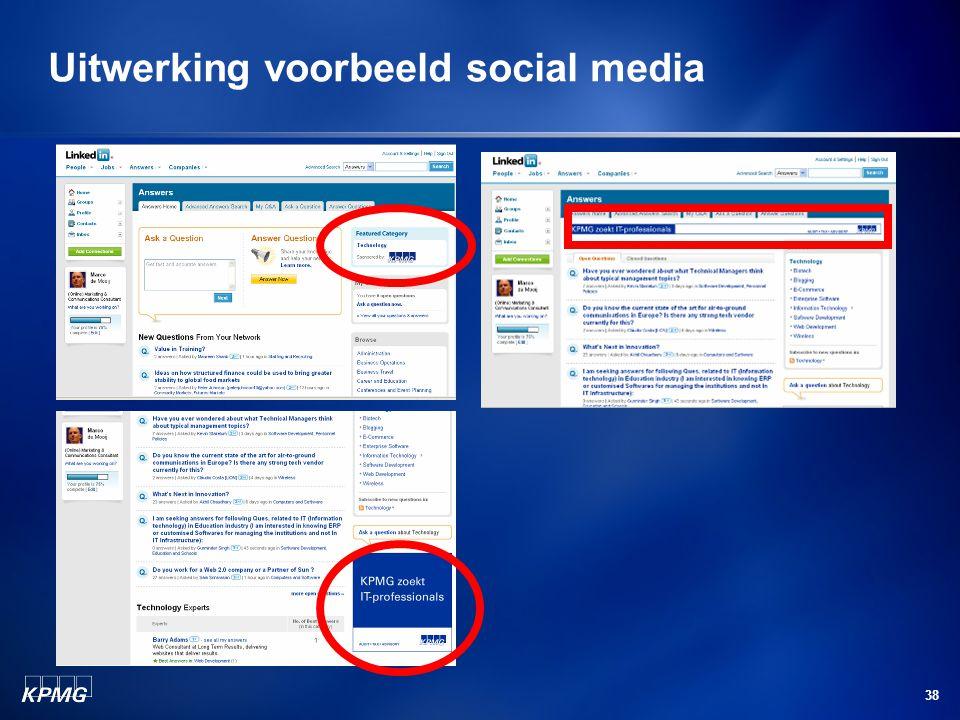 38 Uitwerking voorbeeld social media