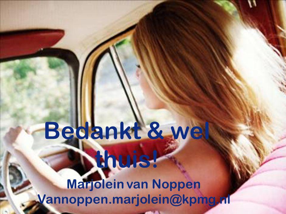 45 Bedankt & wel thuis! Marjolein van Noppen Vannoppen.marjolein@kpmg.nl