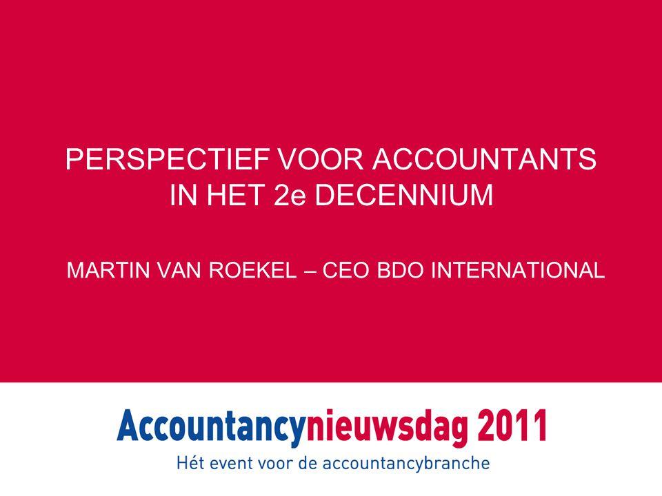 MOGELIJKE VOORSTELLEN BARNIER Aanpassing EG-richtlijnen Meerderheid aandelen niet langer voorbehouden aan accountants EU paspoort voor accountants Verbod contractuele bepalingen m.b.t.