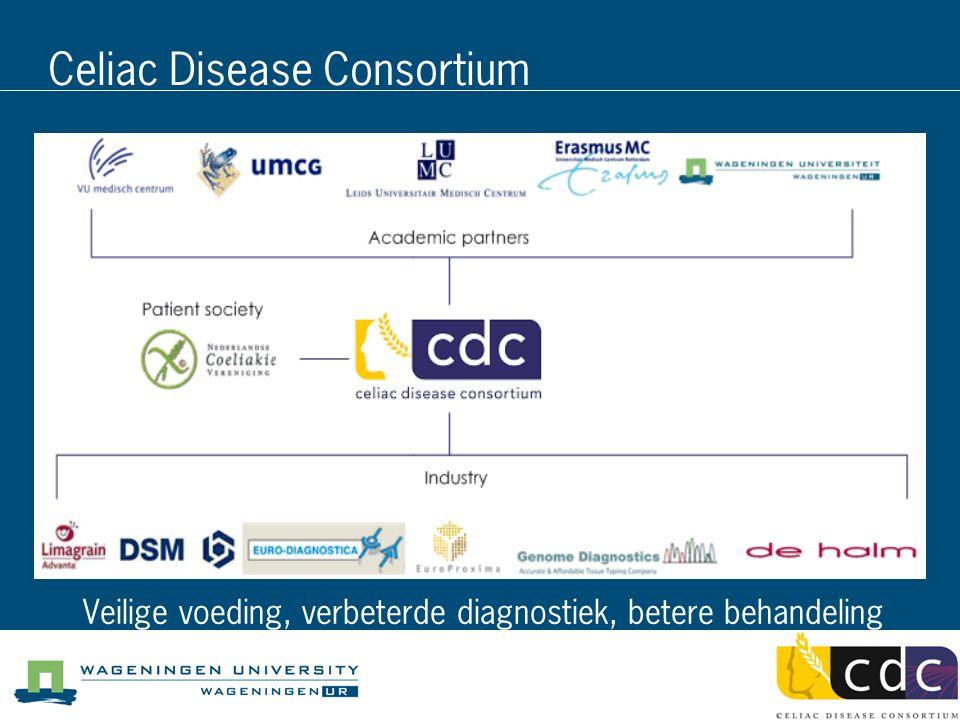 Celiac Disease Consortium Veilige voeding, verbeterde diagnostiek, betere behandeling