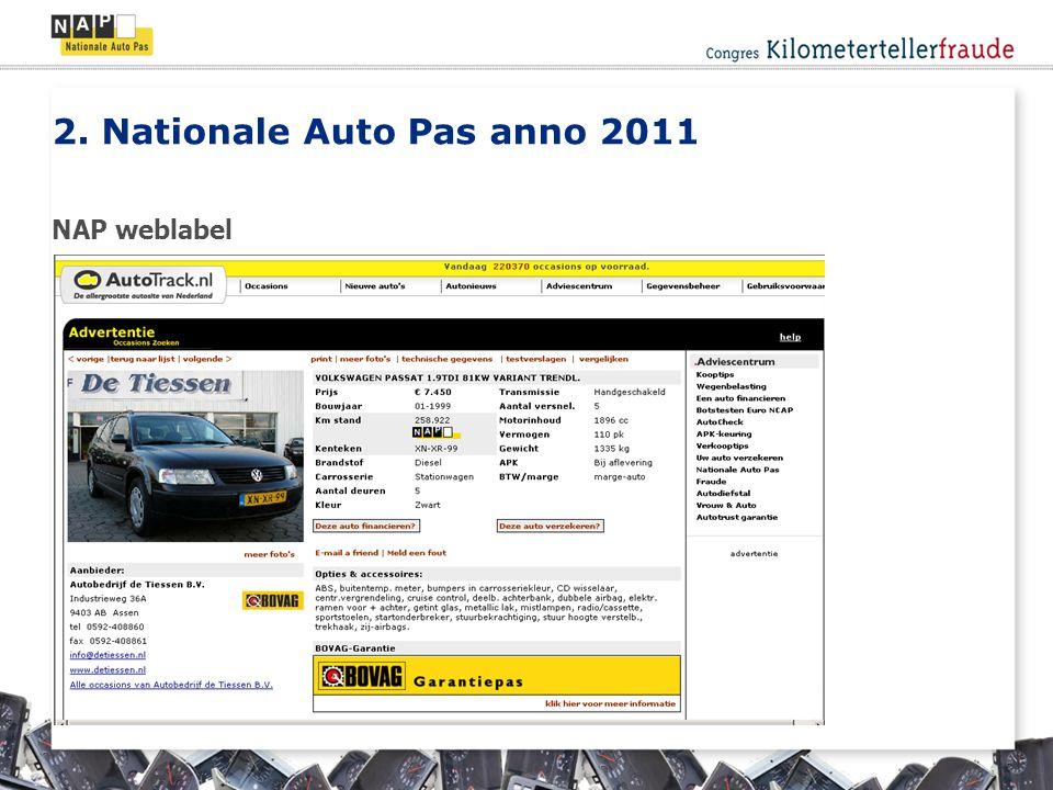 NAP weblabel 2. Nationale Auto Pas anno 2011