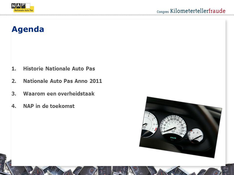 Agenda 1.Historie Nationale Auto Pas 2.Nationale Auto Pas Anno 2011 3.Waarom een overheidstaak 4.NAP in de toekomst