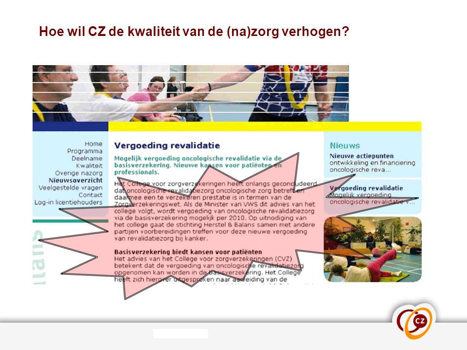 Hoe wil CZ de kwaliteit van de (na)zorg verhogen? Initieren