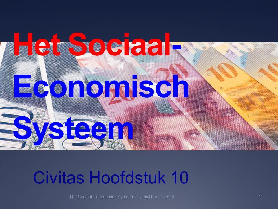 Het Sociaal- Economisch Systeem Civitas Hoofdstuk 10 Het Sociaal-Economisch Systeem Civitas Hoofdstuk 10 1