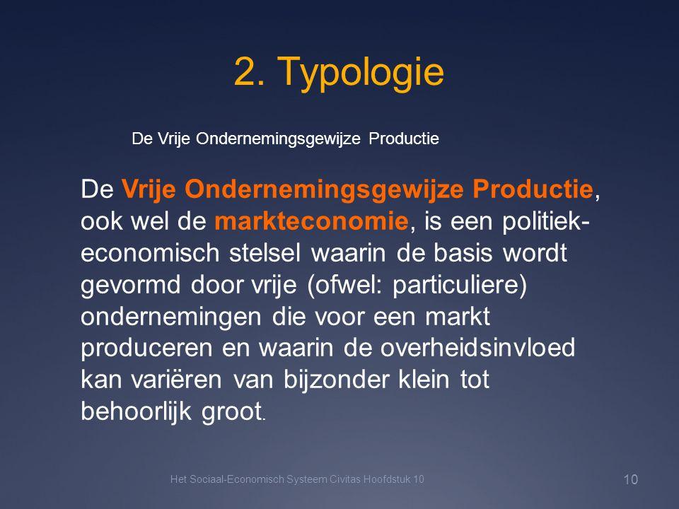 2. Typologie Het Sociaal-Economisch Systeem Civitas Hoofdstuk 10 10 De Vrije Ondernemingsgewijze Productie De Vrije Ondernemingsgewijze Productie, ook