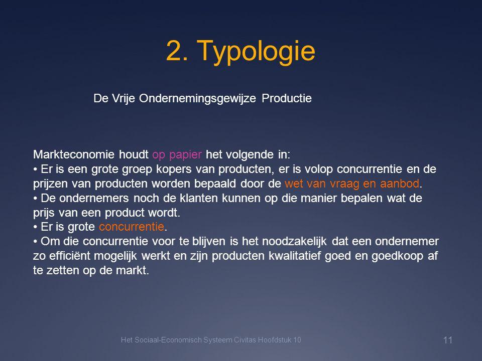 2. Typologie Het Sociaal-Economisch Systeem Civitas Hoofdstuk 10 11 De Vrije Ondernemingsgewijze Productie Markteconomie houdt op papier het volgende