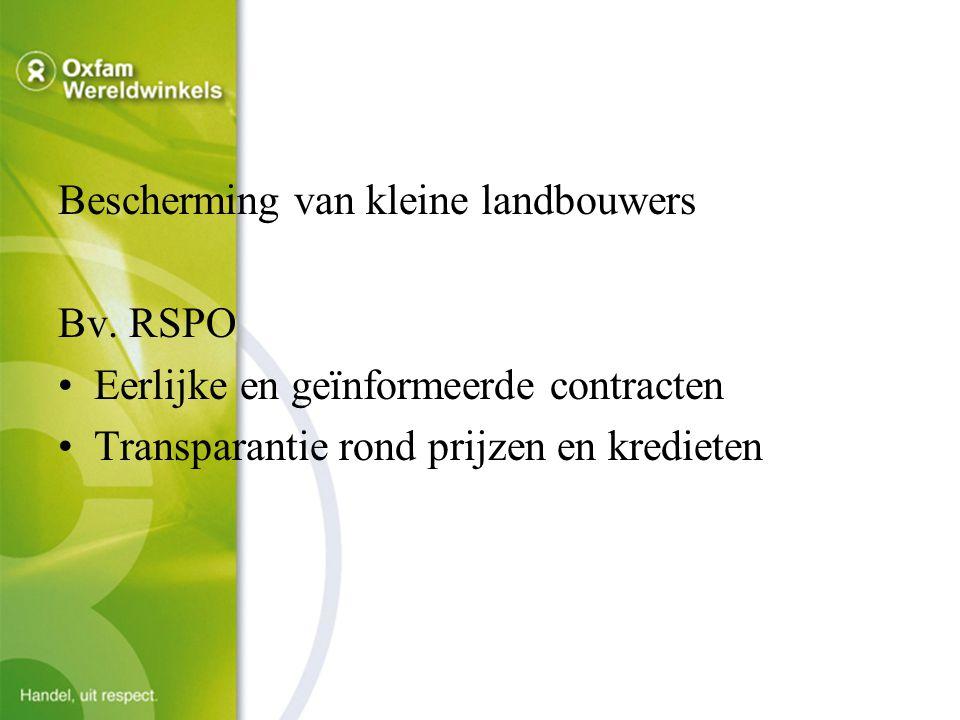Bescherming van kleine landbouwers Bv.