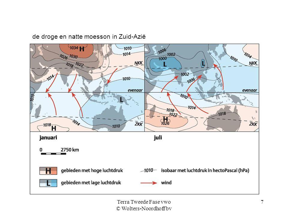 Terra Tweede Fase vwo © Wolters-Noordhoff bv 7 de droge en natte moesson in Zuid-Azië