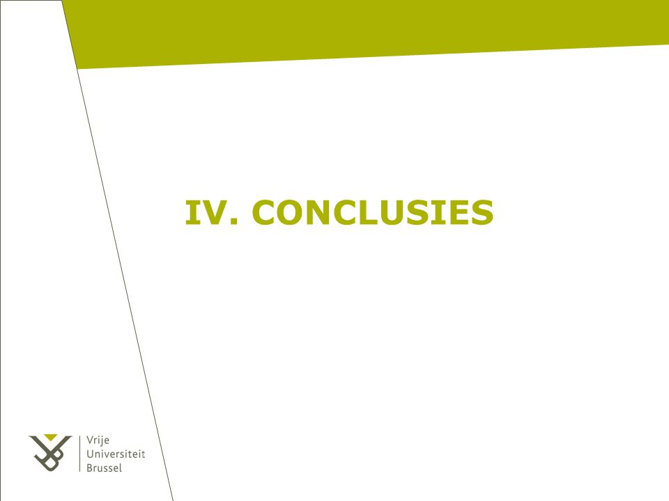 IV. CONCLUSIES