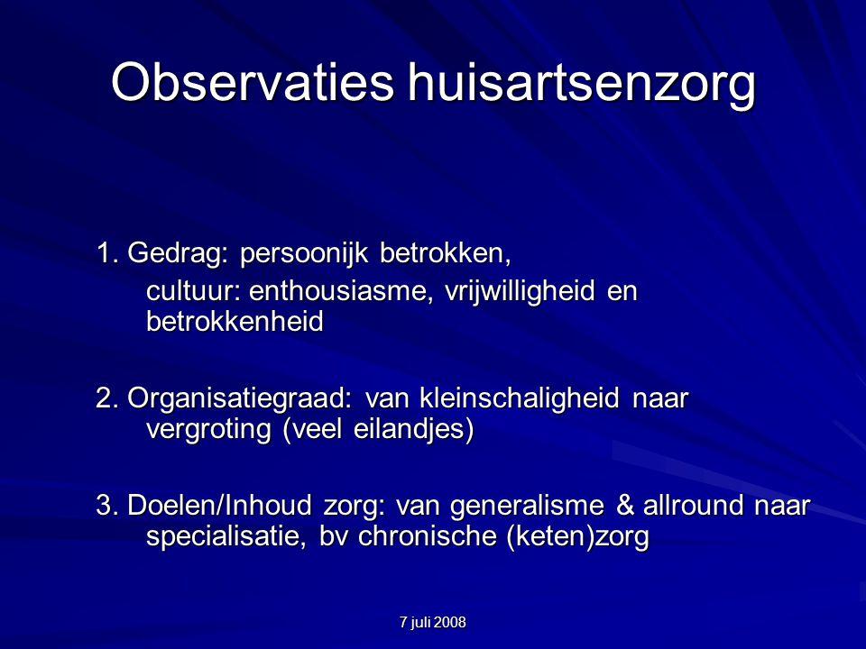 7 juli 2008 Observaties huisartsenzorg 1.