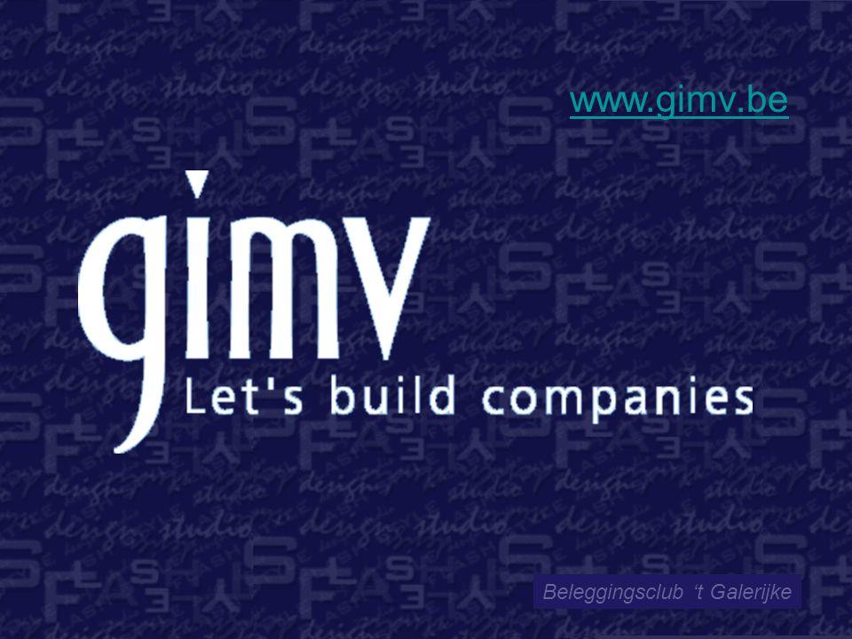 Beleggingsclub 't Galerijke www.gimv.be