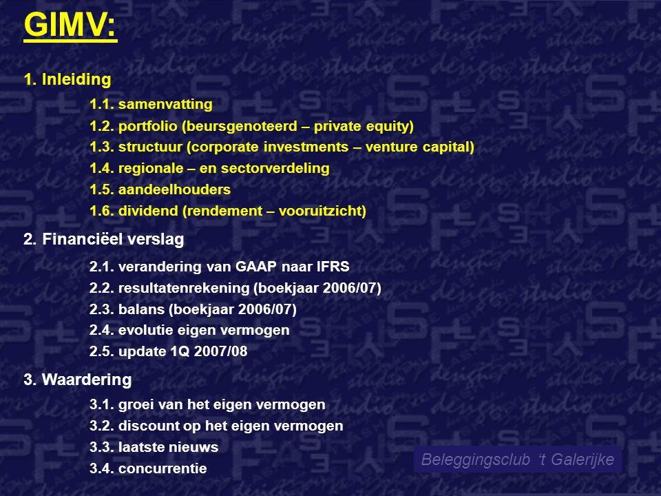 Beleggingsclub 't Galerijke GIMV: 1.Inleiding 1.1.