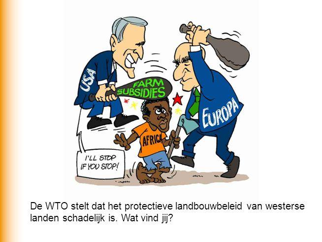 De WTO stelt dat het protectieve landbouwbeleid van westerse landen schadelijk is. Wat vind jij