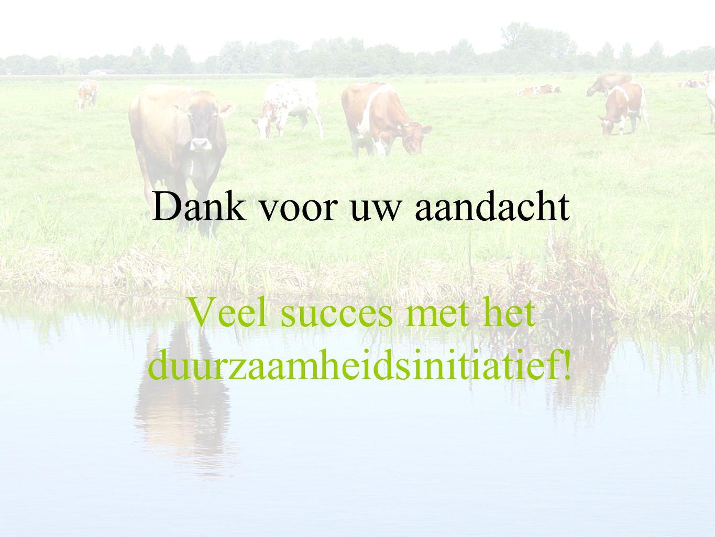 Dank voor uw aandacht Veel succes met het duurzaamheidsinitiatief!