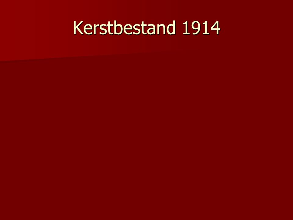 Kerstbestand 1914