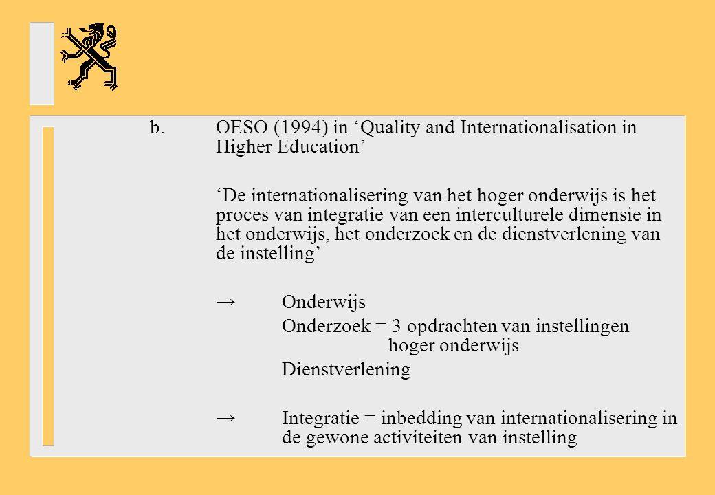 c.Nederlandse Onderwijsraad in een advies: 'Internationaliseringsagenda voor het onderwijs' 'Wat is internationalisering.