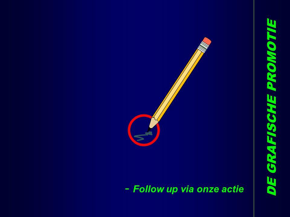 - Follow up via onze actie DE GRAFISCHE PROMOTIE N