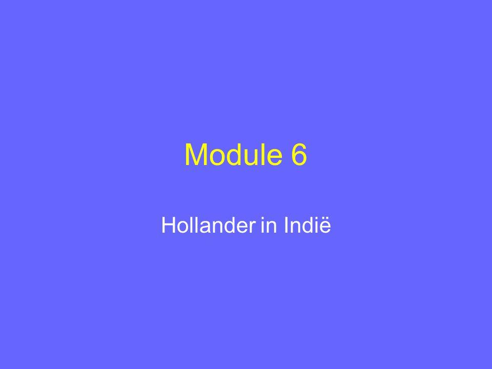Module 6 Hollander in Indië