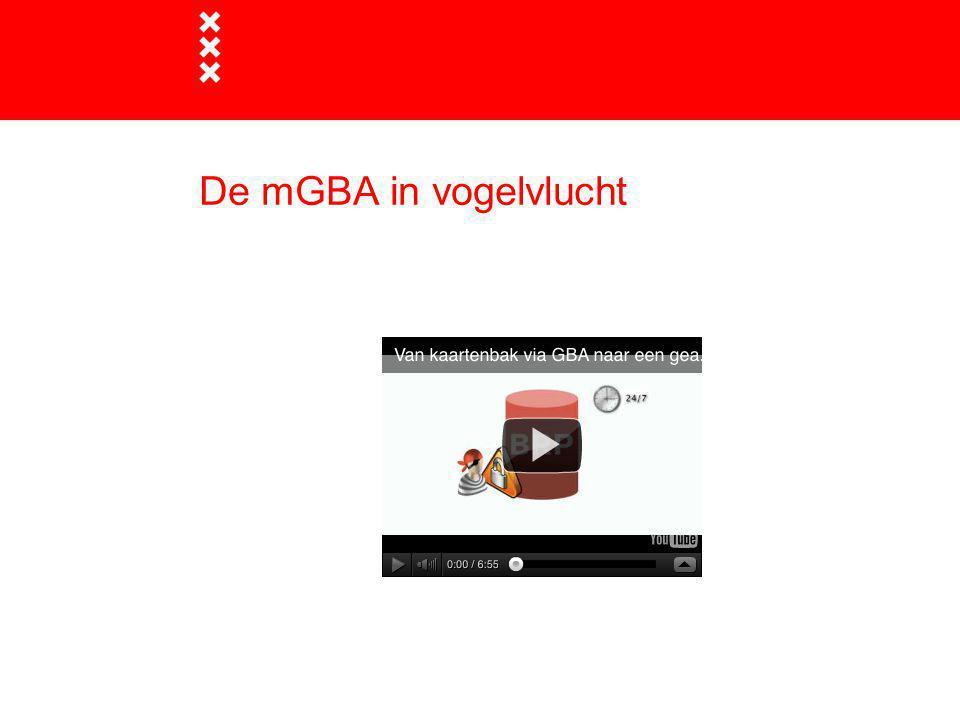 Start GBA oktober 1994  Groot succes, meer dan 600 landelijke afnemers aangesloten  Basisgegevens worden geleverd aan tal van buiten- en binnengemeentelijke processen