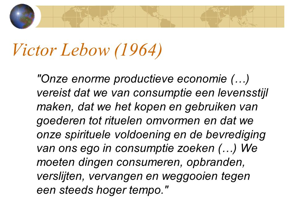 Victor Lebow (1964)‏