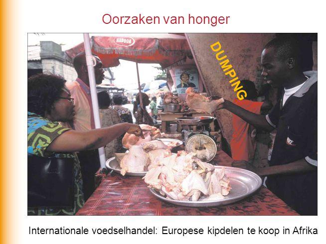 Internationale voedselhandel: Europese kipdelen te koop in Afrika Oorzaken van honger DUMPING
