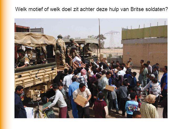 Welk motief of welk doel zit achter deze hulp van Britse soldaten?
