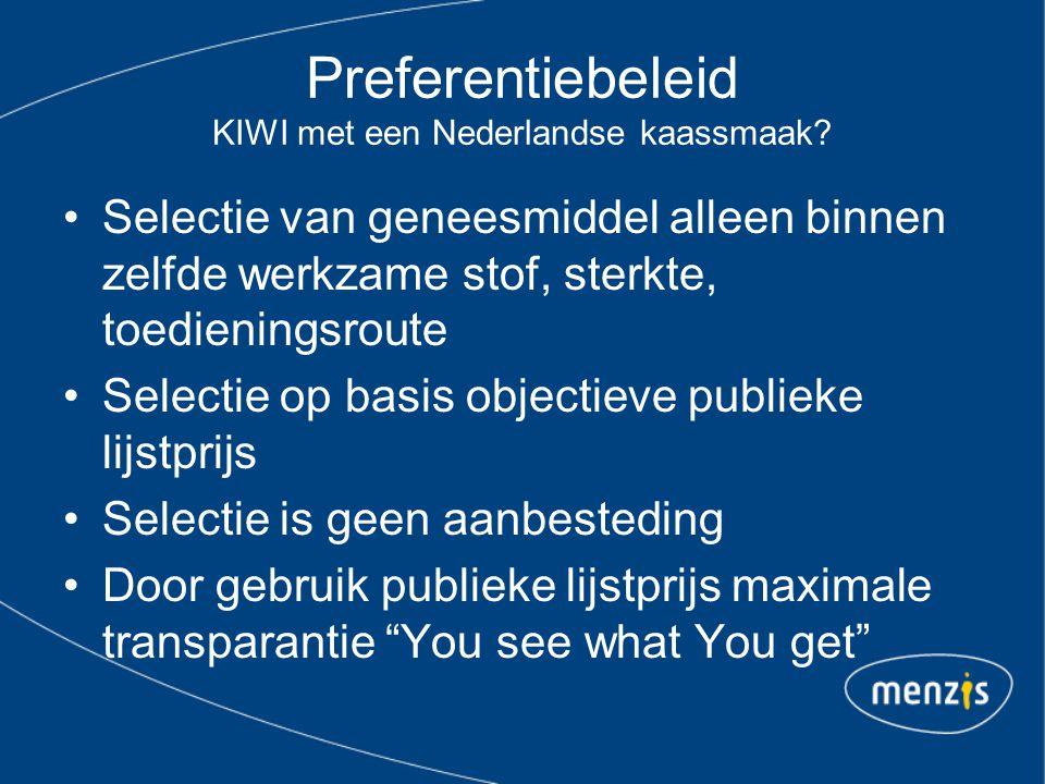 Preferentiebeleid KIWI met een Nederlandse kaassmaak.