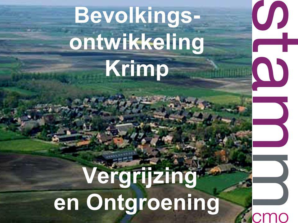 Bevolkings- ontwikkeling Krimp Vergrijzing en Ontgroening