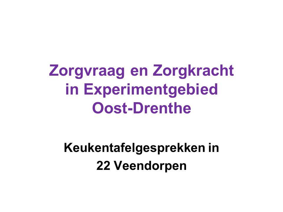 Zorgvraag en Zorgkracht in Experimentgebied Oost-Drenthe Keukentafelgesprekken in 22 Veendorpen