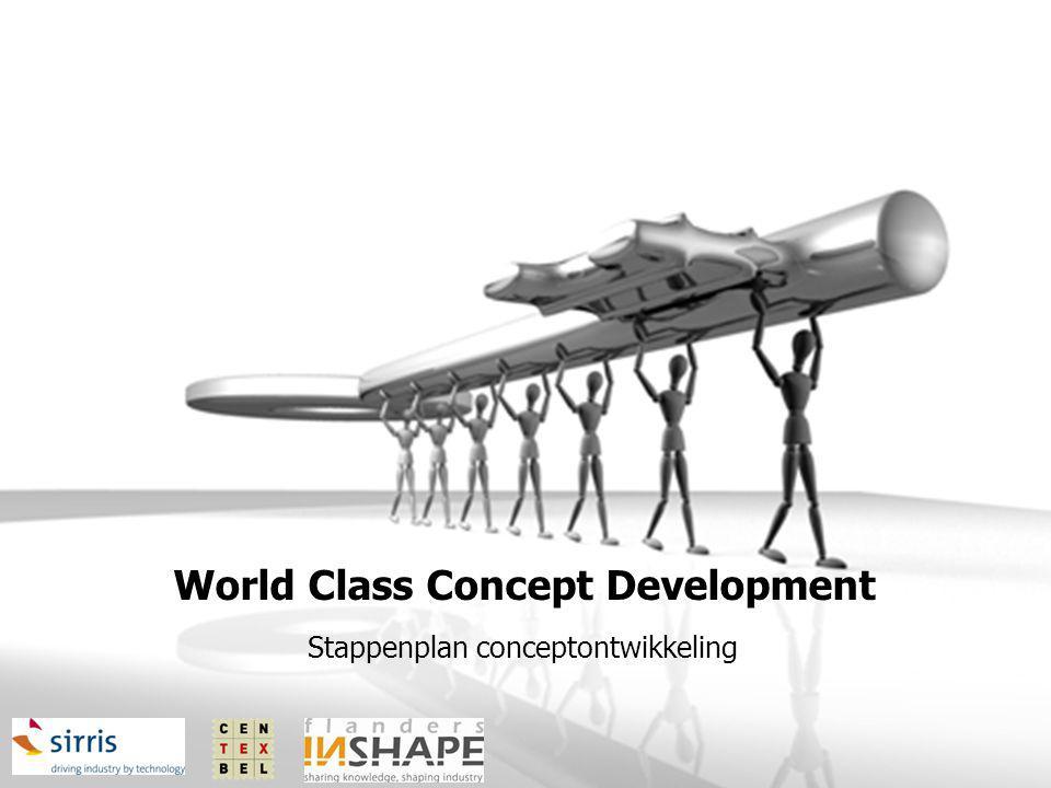 World Class Concept Development Stappenplan conceptontwikkeling