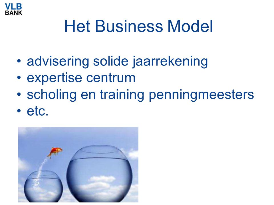 Het Business Model advisering solide jaarrekening expertise centrum scholing en training penningmeesters etc.