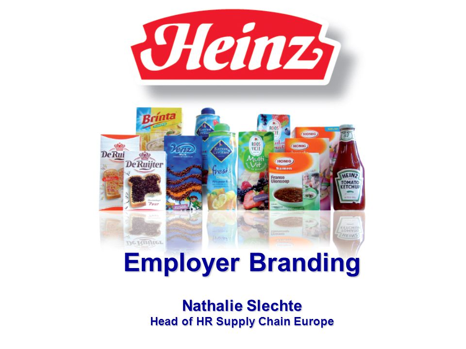 HR Beleid Nathalie Slechte Employer Branding Nathalie Slechte Head of HR Supply Chain Europe