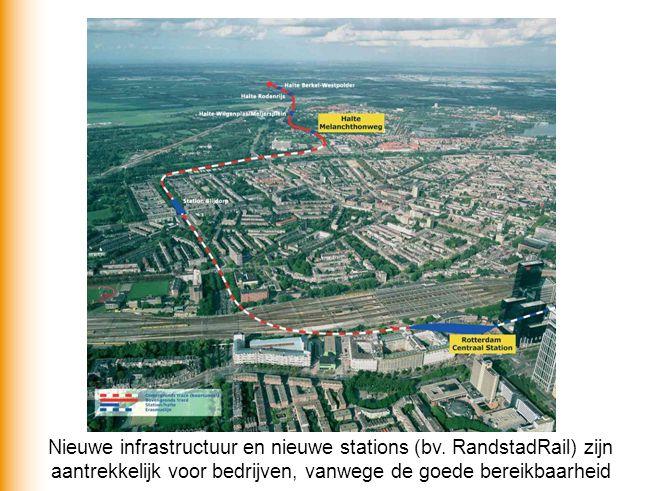 Nieuwe infrastructuur en nieuwe stations (bv. RandstadRail) zijn aantrekkelijk voor bedrijven, vanwege de goede bereikbaarheid
