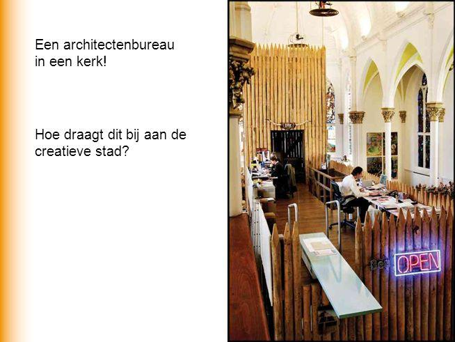Een architectenbureau in een kerk! Hoe draagt dit bij aan de creatieve stad?