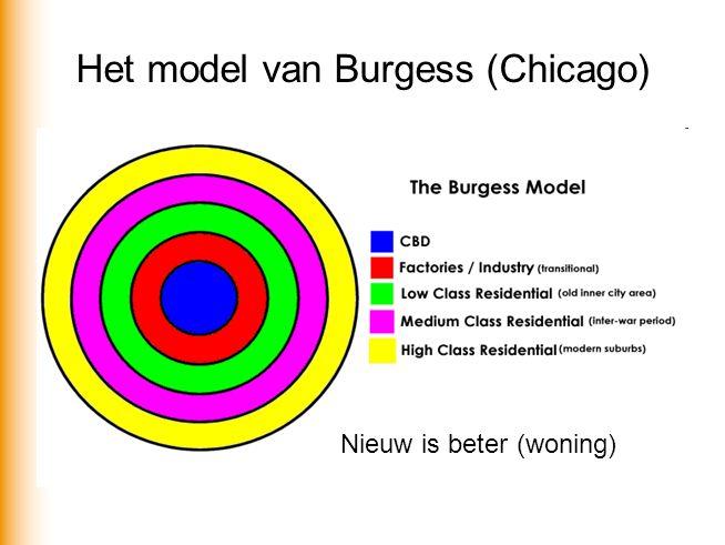 Het model van Burgess (Chicago) Nieuw is beter (woning)