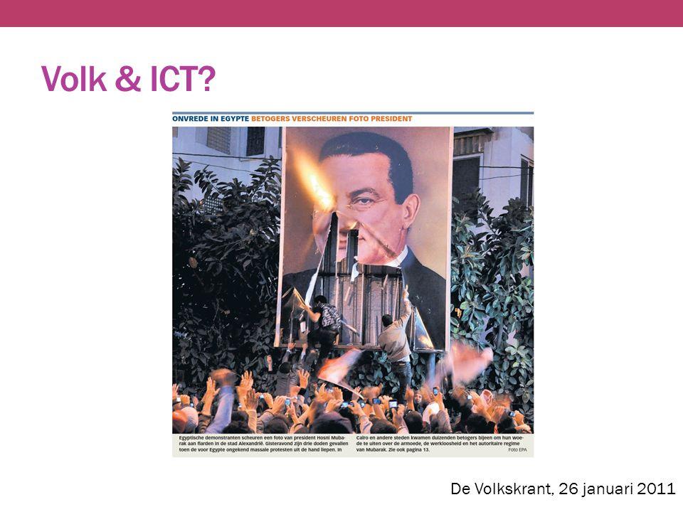 Volk & ICT? De Volkskrant, 26 januari 2011