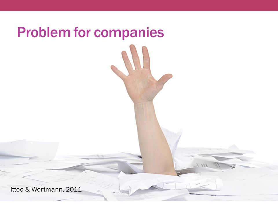 Problem for companies Ittoo & Wortmann, 2011