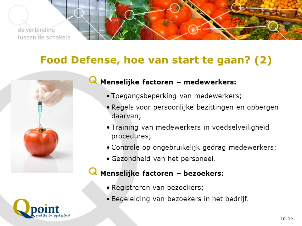 Food Defense, hoe van start te gaan.