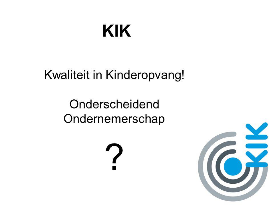 KIK Kik is gericht op synergie door onderlinge samenwerking van vergelijkbare organisaties.