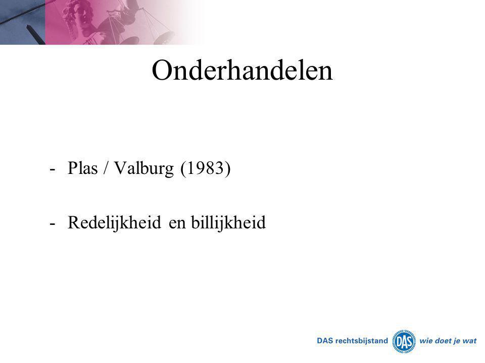 Onderhandelen -Plas / Valburg (1983) -Redelijkheid en billijkheid
