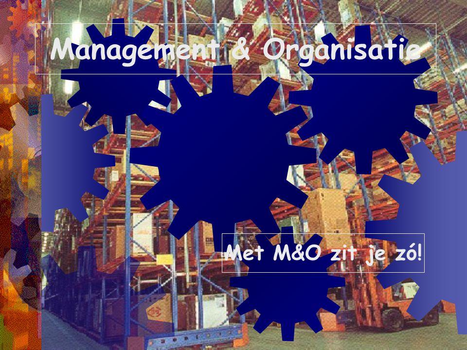 Management & Organisatie Met M&O zit je zó!