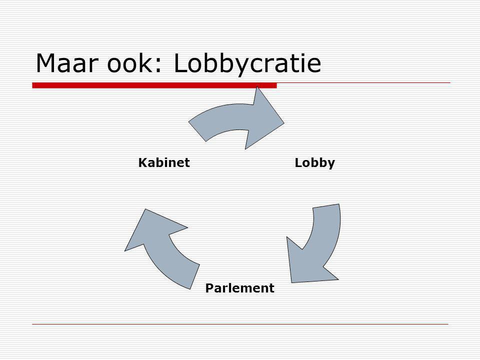 Maar ook: Lobbycratie Lobby Parlement Kabinet