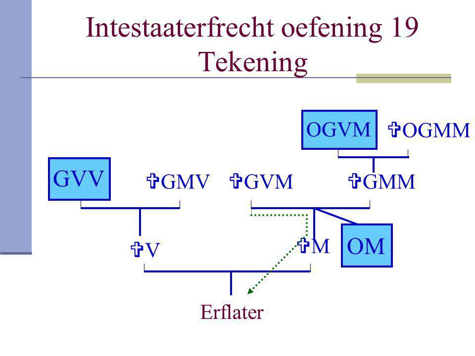 Intestaaterfrecht oefening 19 Tekening Erflater VV MM GVV  GMV  GMM OGVM  OGMM OM  GVM