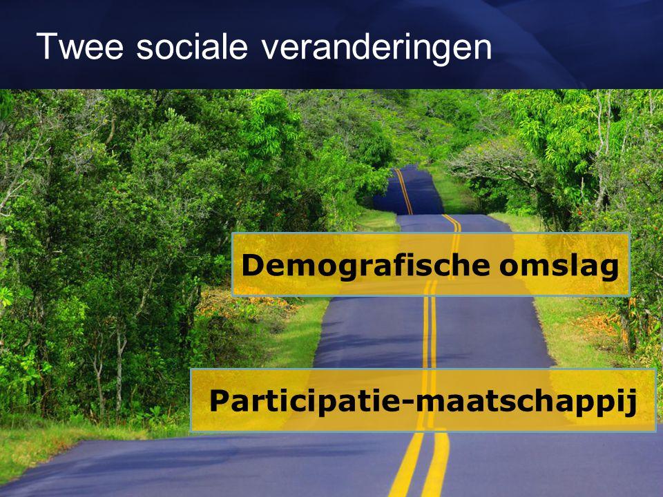 Twee sociale veranderingen Demografische omslag Participatie-maatschappij